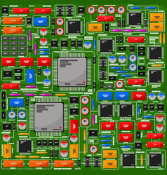 Pattern electrical board electronic components vector