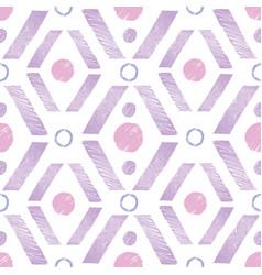 Purple pink rhombus painted repeat pattern design vector