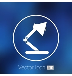 Reading lamp Single flat icon vector image