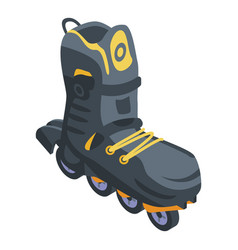 Safety inline skates icon isometric style vector