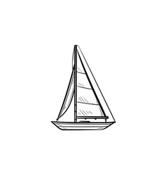 sailboat hand drawn outline doodle icon vector image