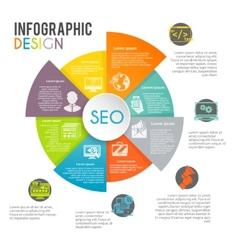 Seo Internet Marketing Infographics vector image