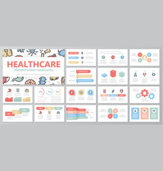 Set of medical and healthcare elements for vector