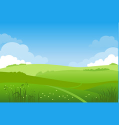 spring landscape for design vector image
