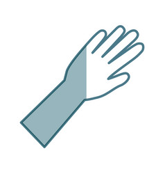 Surgical gloves isolated icon vector