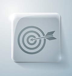 Target Glass square icon vector