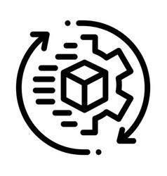 Technical aspect sending icon outline vector