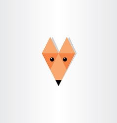 Triangles fox head icon design vector