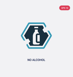 two color no alcohol icon from signs concept vector image