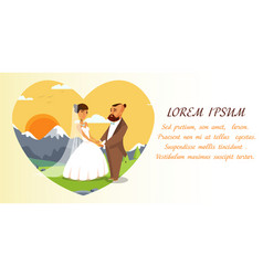 Wedding invitation template with text space vector