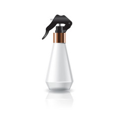 White cosmetic cone shape bottle with spray head vector