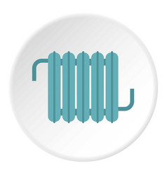 White heating con icon circle vector