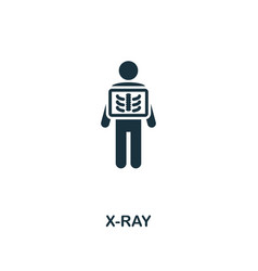 x-ray icon premium style design from healthcare vector image