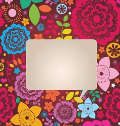 floral ornamental poster vector image vector image