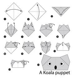 Make origami a koala puppet vector