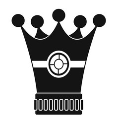 medieval crown icon simple style vector image vector image