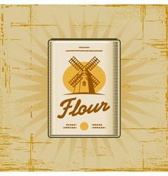 Retro Flour Pack vector image vector image