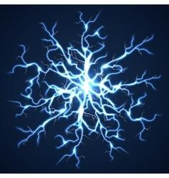 Thunder bolts dark background vector image vector image