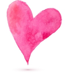 Watercolor painted heart for your design vector image vector image