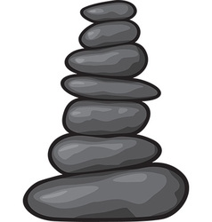 Zen stone vector image vector image