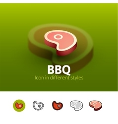 BBQ icon in different style vector image vector image