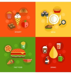 Food composition flat vector image vector image