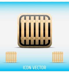 Icon open vector image