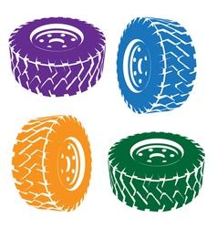 stylized car wheel vector image