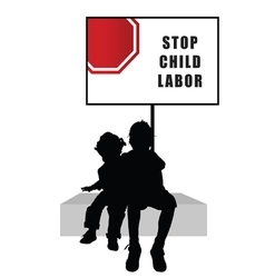 children with humain trafficking sign vector image vector image