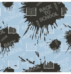 Seamless pattern Back to school on blue background vector image vector image