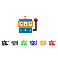 casino machine icon vector image