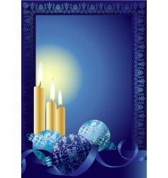 Christmas candle frame vector image