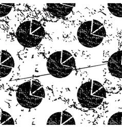 Diagram pattern grunge monochrome vector image