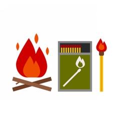 Fire Starter Kit vector image vector image
