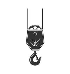 icon of crane hook vector image