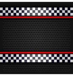 Sheet metallic perforated for race vector image vector image