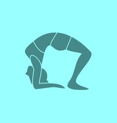 silhouette of wheel pose yoga posture vector image
