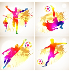 Soccer and Winner Silhouette vector image vector image