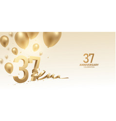 37th anniversary celebration background vector
