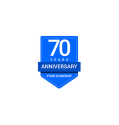 70 years anniversary celebration your company vector image