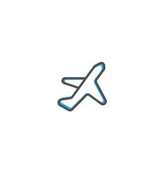 airplane icon design transportation icon design vector image