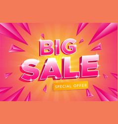 Big sale banner sale 3d typography premium vector