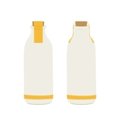 Bottle of milk icons vector