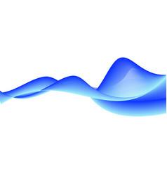 bright wavy color background vector image