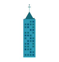 Building urban skyscraper antenna vector
