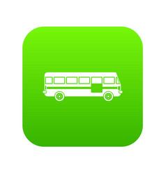 Bus icon digital green vector