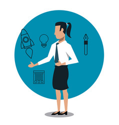 business woman with tools vector image