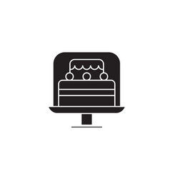cake stand black concept icon cake stand vector image