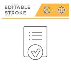 checklist line icon vector image