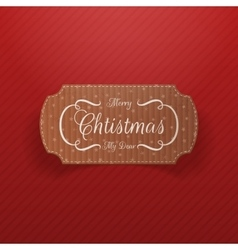 Christmas realistic cardboard Banner vector image